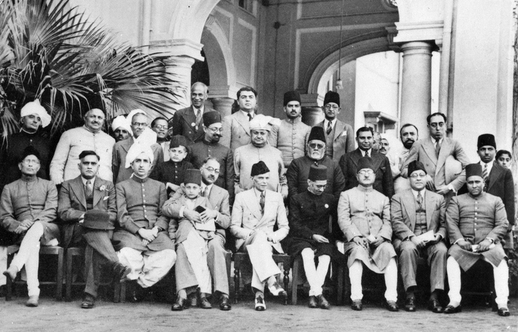 Muslim League leaders after a dinner party