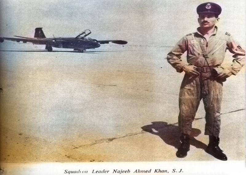 Najeeb Ahmed Khan Squadron Leader of Pakistan Air Force