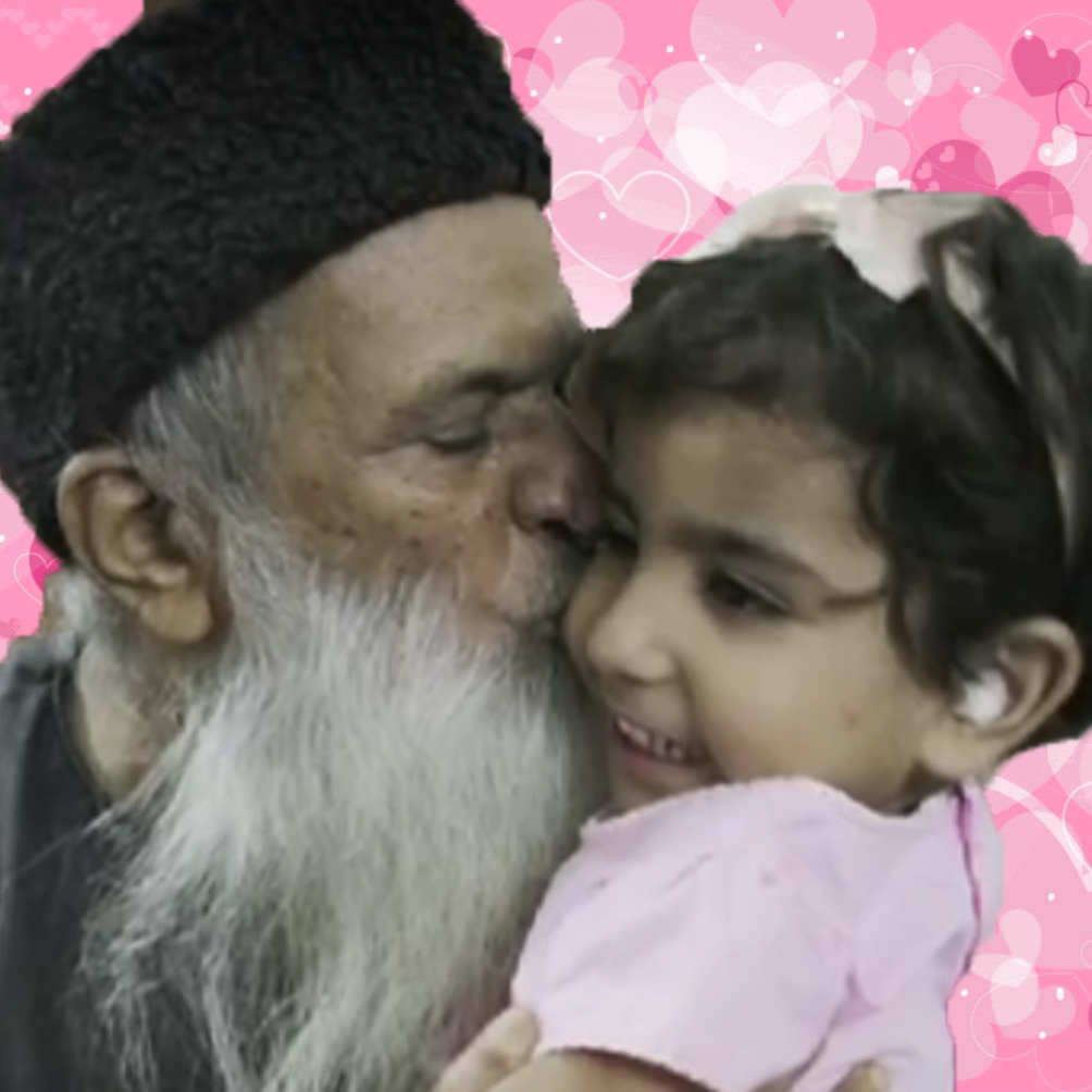 A Great Humanitarian Abdul Sattar Edhi with a Child