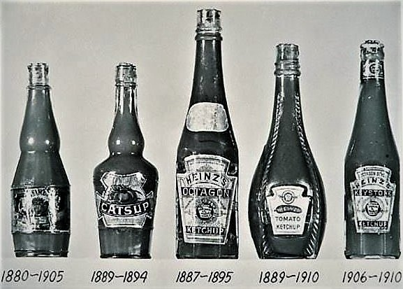 By 1880, the design of Heinz's ketchup bottle had started to take its original shape.
