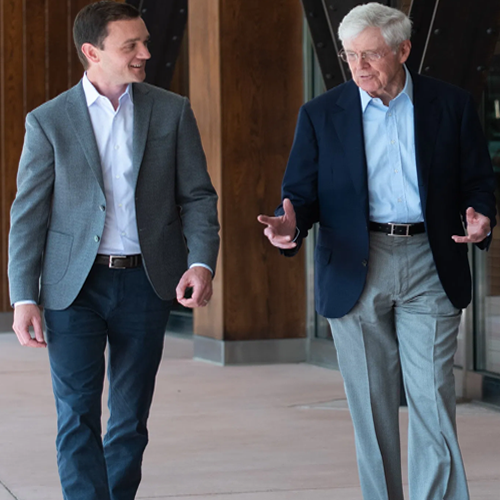 Charles Koch Says His Partisanship Was a Mistake