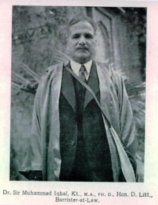 A Great Poet and Philosopher of Muslims, image after becoming the Barrister at Law