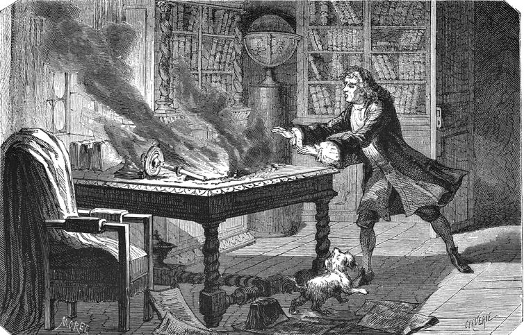Famous scientist Mathematician, Physicist and Scientist, Isaac Newton