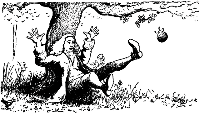 Isaac Newton Discovering Gravity