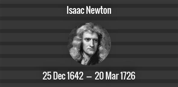 Isaac Newton death