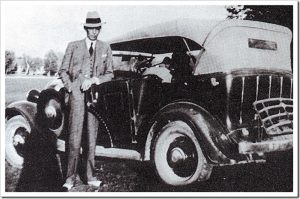 Jinnah Posing Next to His Car, Circa 1920
