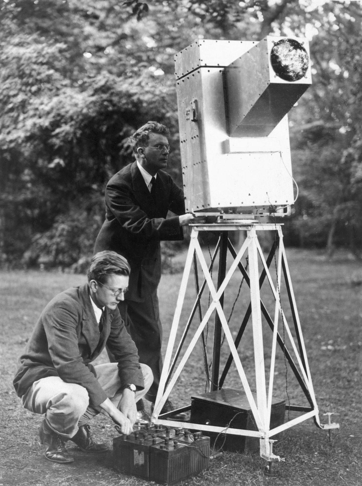 John Logie Baird assistant Noctovisor 8th Sept 1929