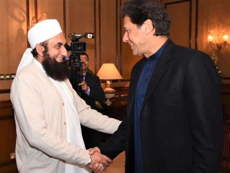 Maulana Tariq Jamil with Imran Khan