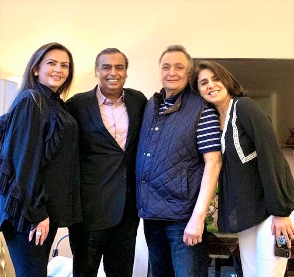 Neetu Kapoor thanks Mukesh Ambani and family, You have been our guardian angels
