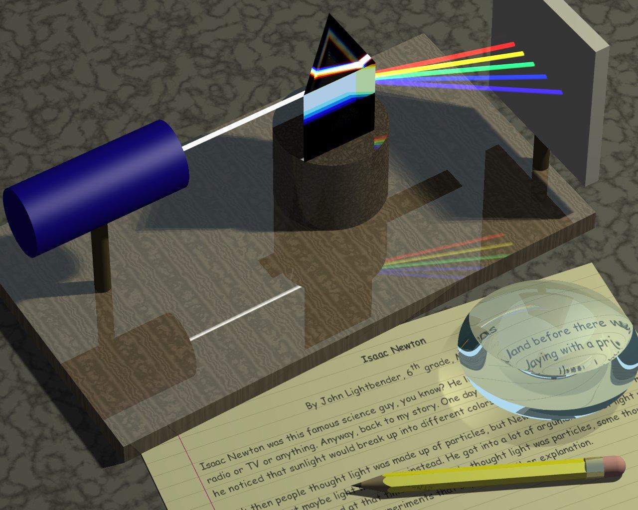 Newton works  on Prism