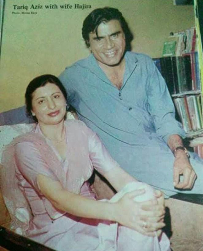 Tariq Aziz and his wife