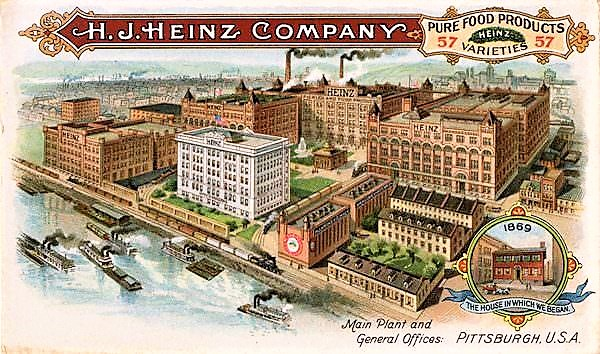 The H. J. Heinz Company, Main Plant and General Offices, Pittsburgh, U.S.A.