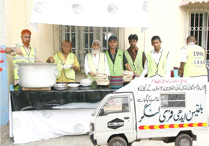 Edhi Free Langar for the Poor persons. A Great Humanitarian.
