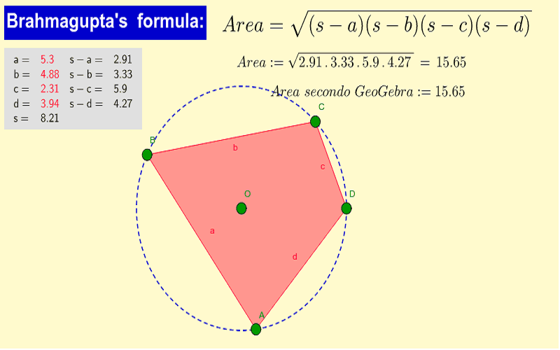 Brahmagupta's formula
