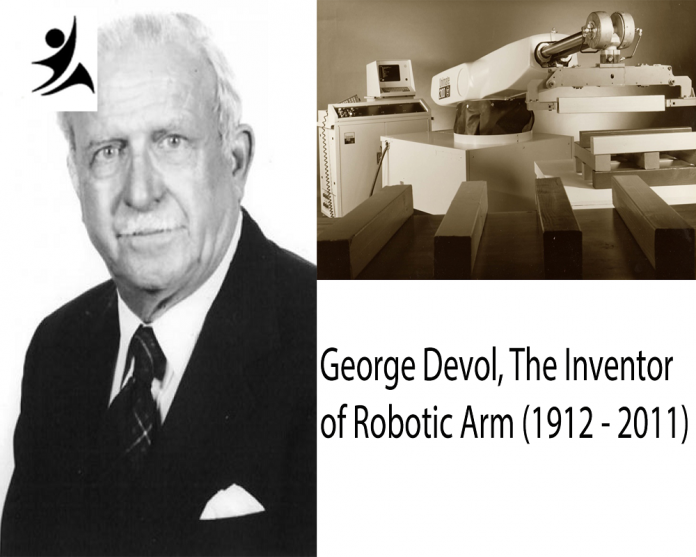 George Devol, the Inventor of first robotic arm