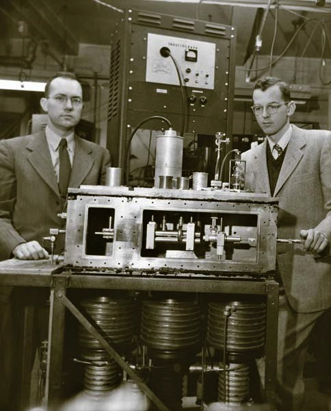 In the early 1950s, Charles Townes (left) invented the maser, a predecessor of the modern laser