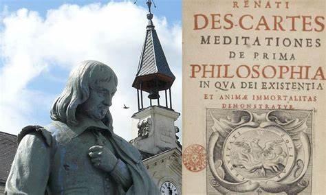 Rene Descartes statue