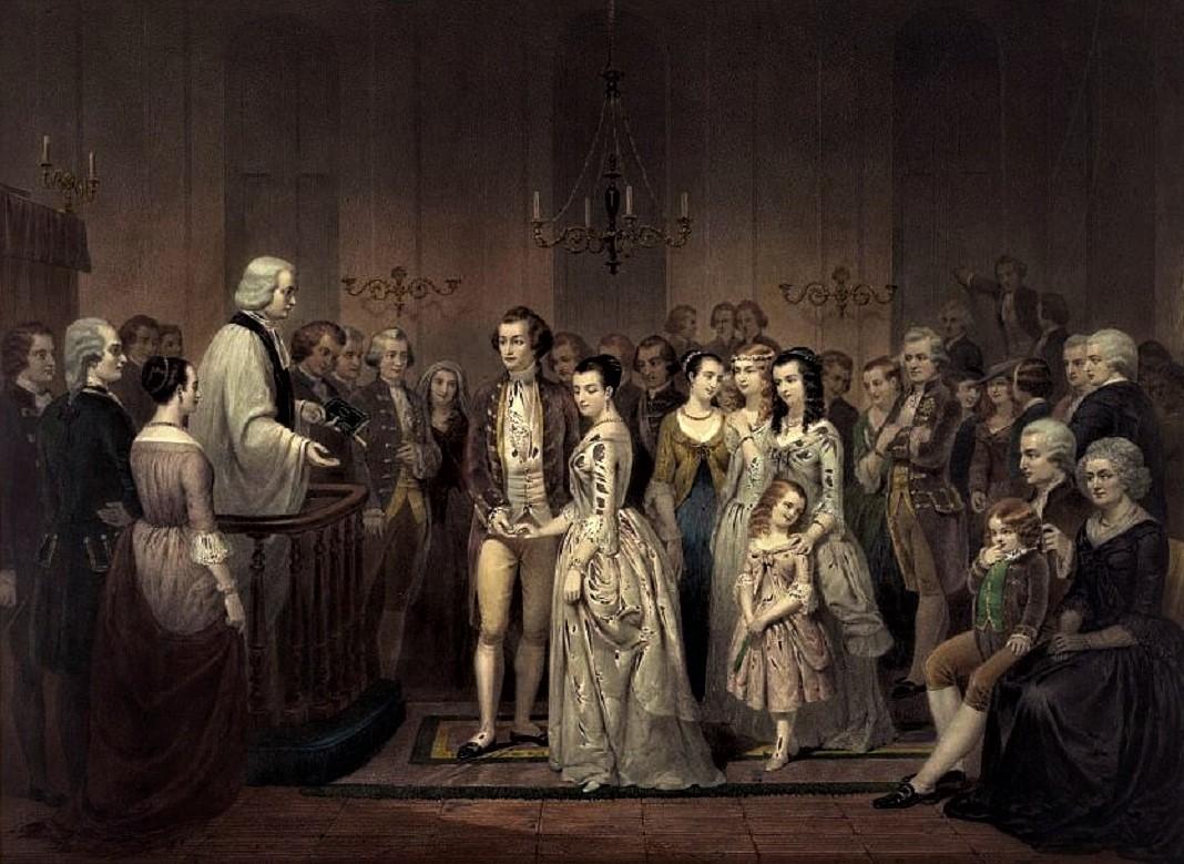 The Wedding of George and Martha