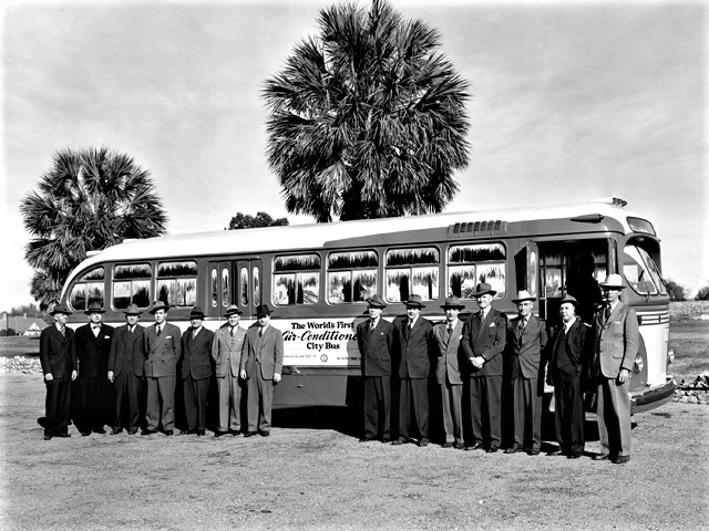 The first air conditioner bus was created in 1946
