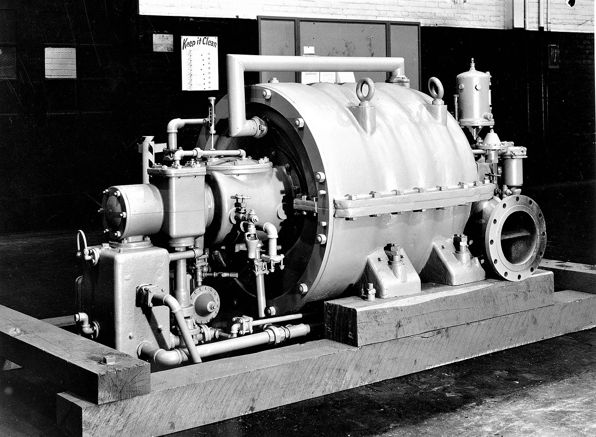 in 1876 Willis Carrier, air conditioning innovator, is born. Carrier Four-Stage Centrifugal Compressor