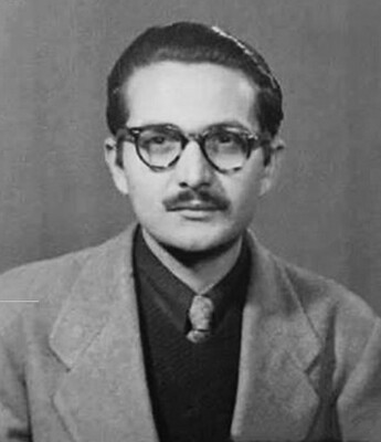 Ashfaq Ahmed old image when he was young and worked on radio
