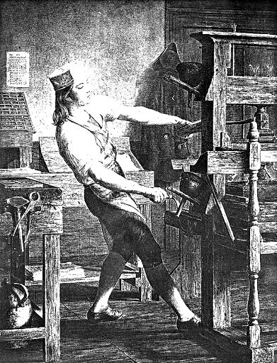 Benjamin Franklin, as a Boy, at a Printing Press, 1913