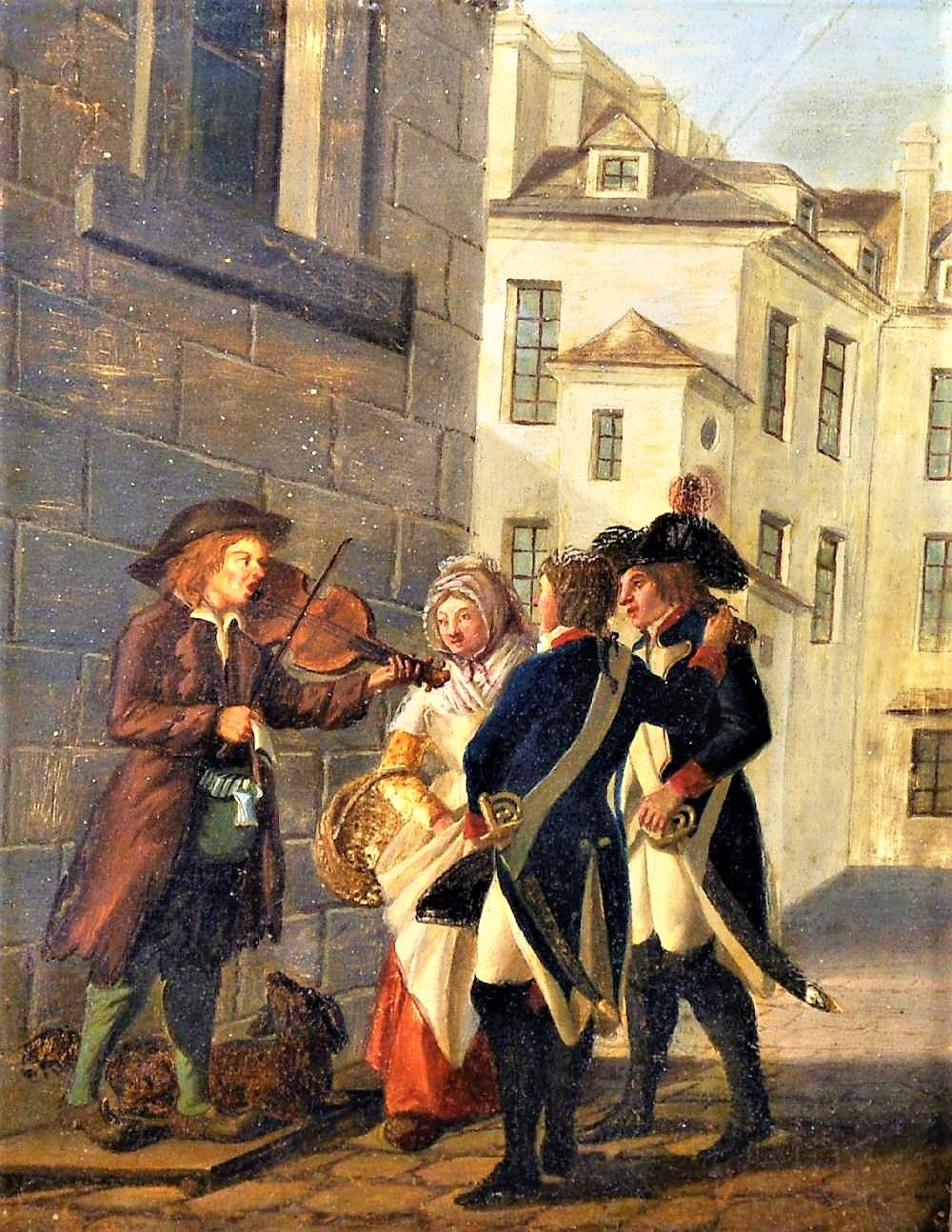 Gabriel Jaques de Saint Aubin (1724-1780) French. The Itinerary musician