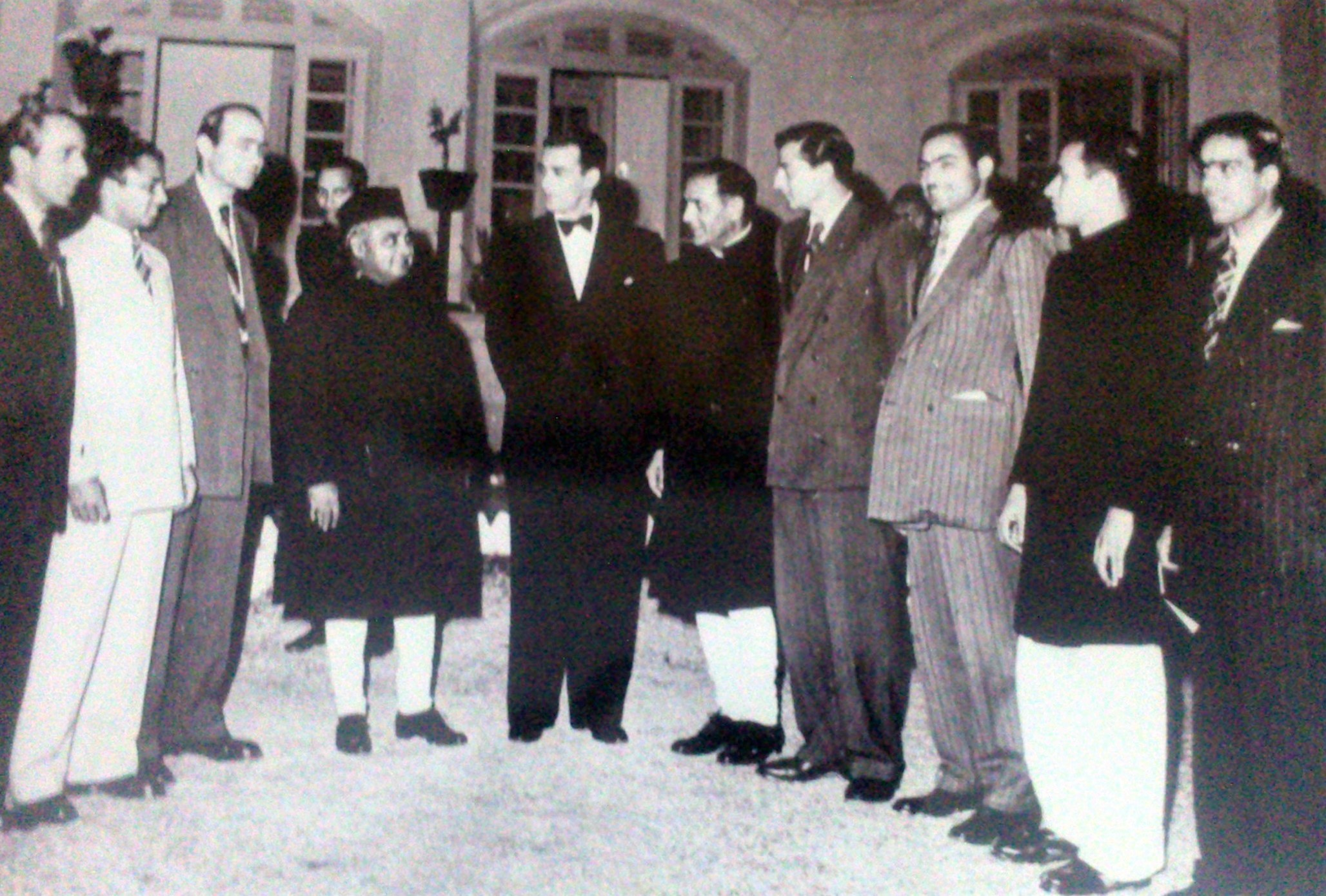 Governor General Khawaja Nazimuddin and Pakistan Cricket Team