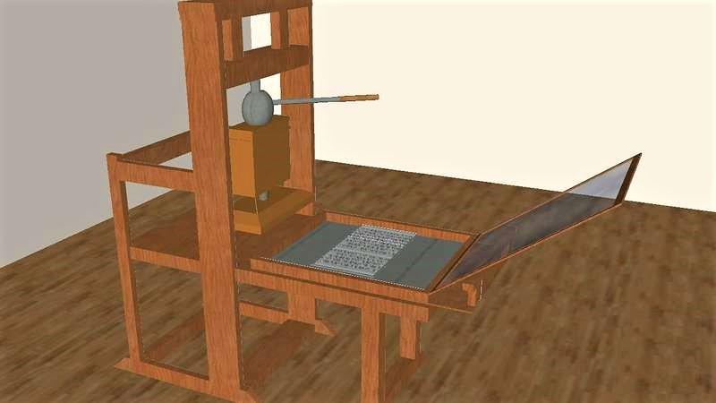 History printing press work discussion Johannes Gutenberg