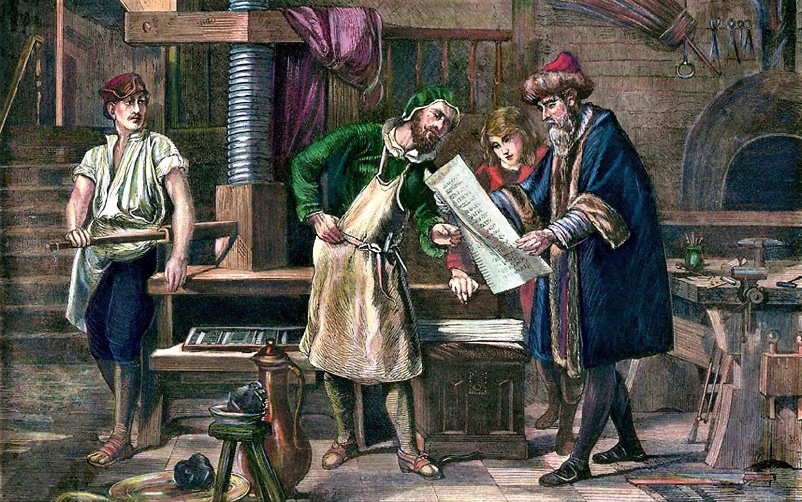 Johannes Gutenberg made billboards possible