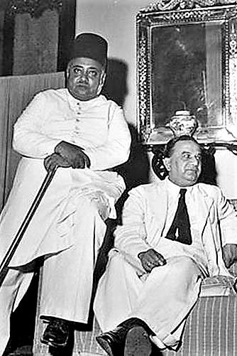 Khawaja Nazimuddin and Suhrawardy