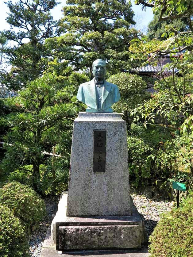 Sakichi Toyoda Memorial House and his Statue Planted in the Garden